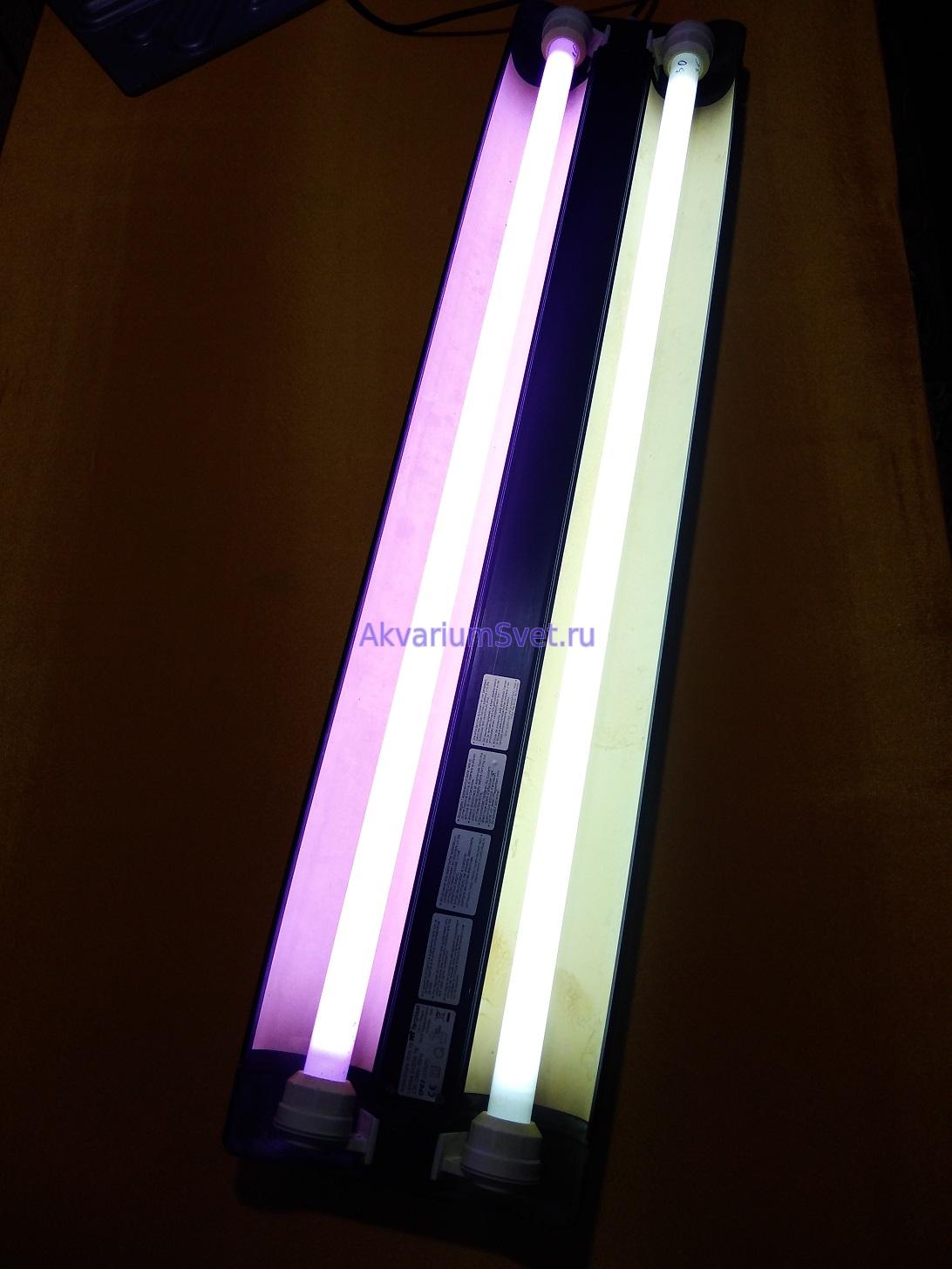 Большинство современных интеллектуальных ЭПРА включают сразу две лампы и по одной лампе зажечь не смогут. Для раздельного включения ламп понадобятся два одинарных ЭПРА.