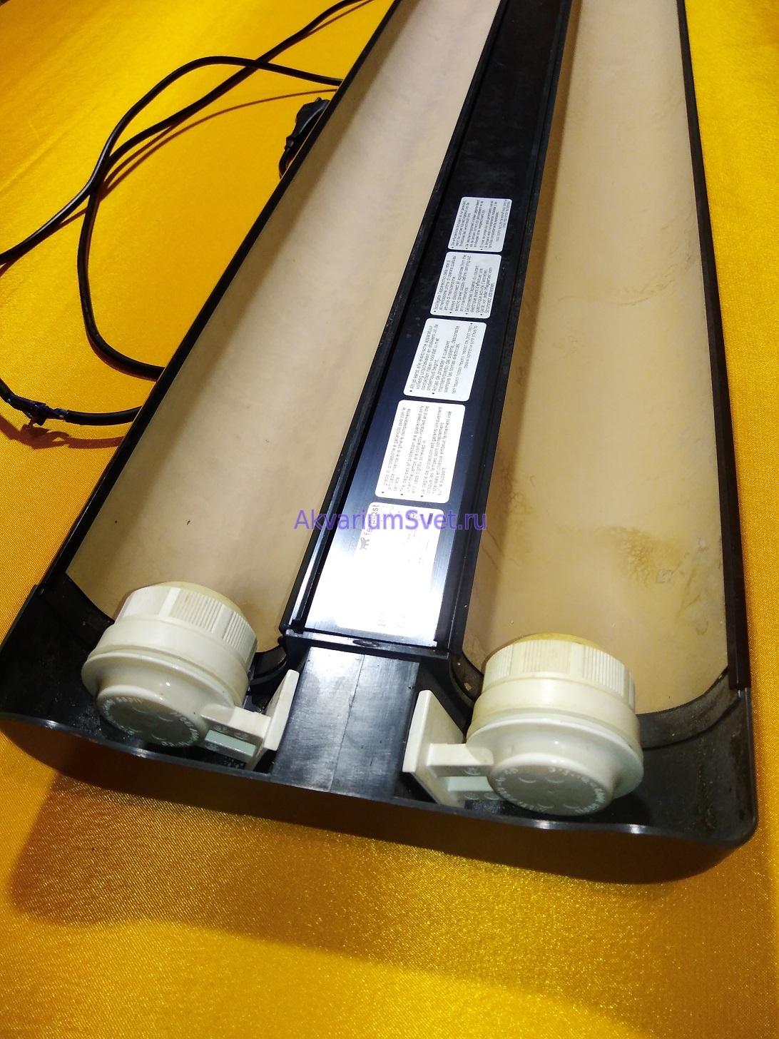 Аквариумный светильник Ferplast Exploralight 2x30 до ремонта.