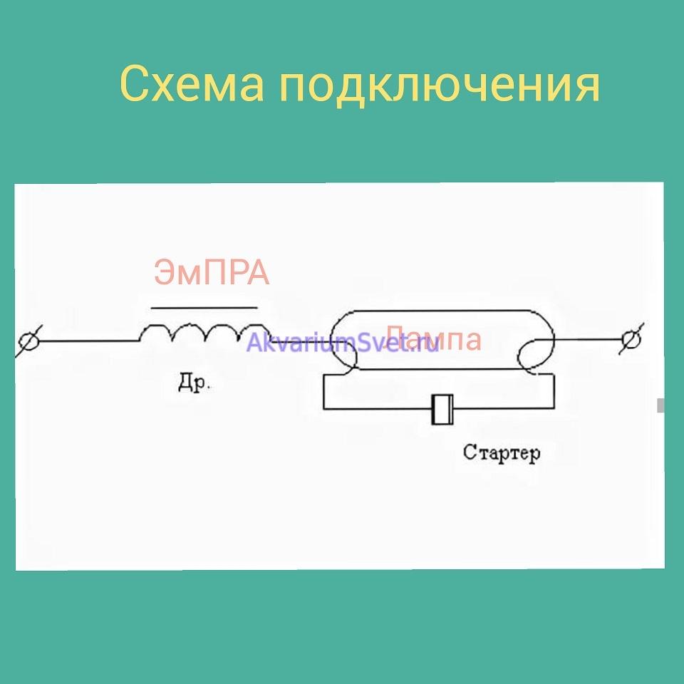 Схема подключения ЭмПРА