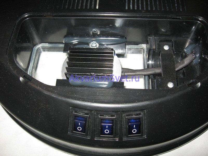 Монтаж светодиодного модуля в аквариумную крышку SunSun.