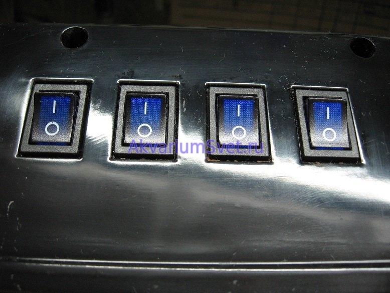 Новые выключатели в аквариумной крышке SunSun.